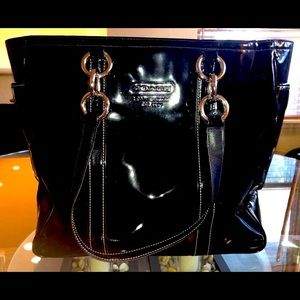 Coach Black Patent Leather Bag